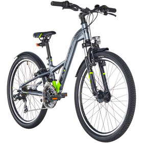 s'cool XXlite 24 21-S alloy Kids, darkrey/black matt